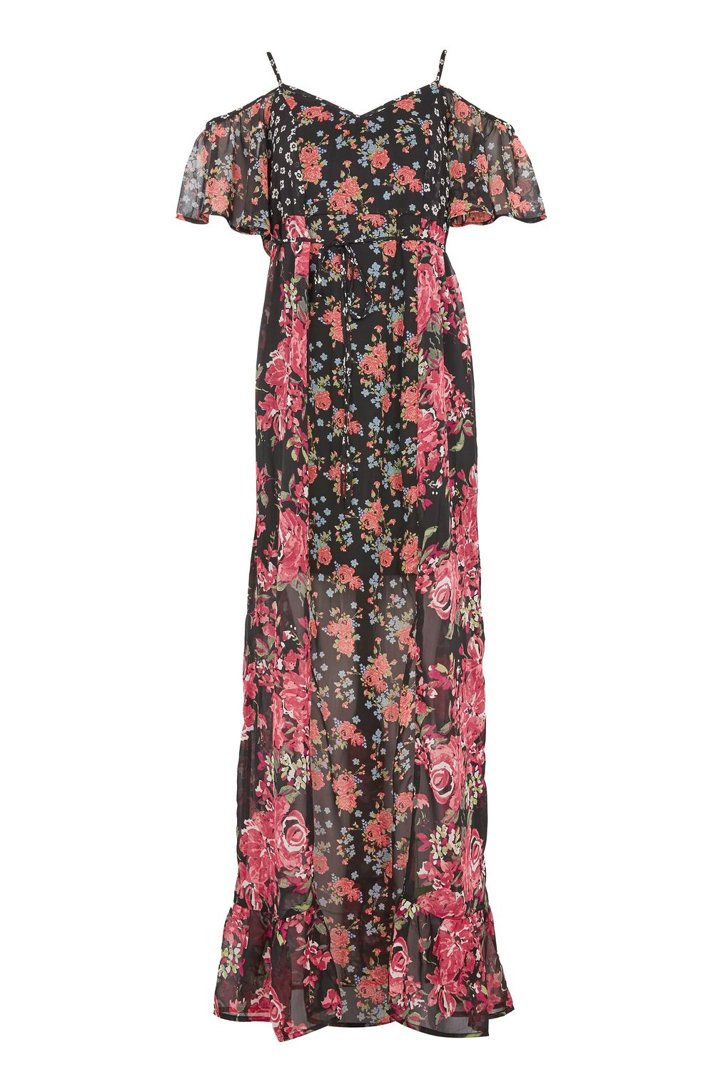 Cold Shoulder Maxi Dress by Band of Gypsies BY TOYSHOP