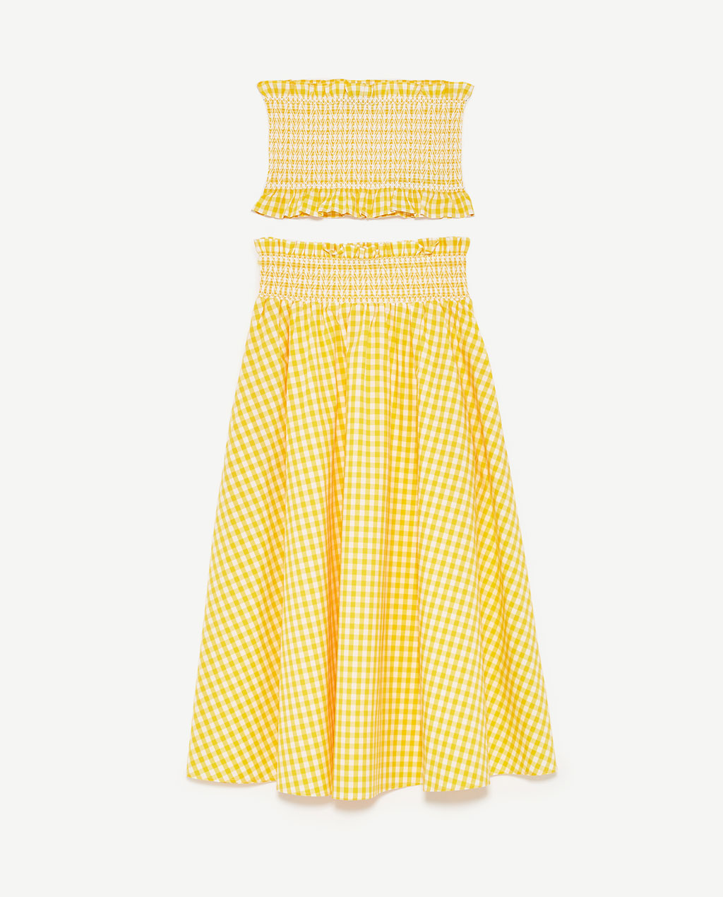 zara yellow gingham set