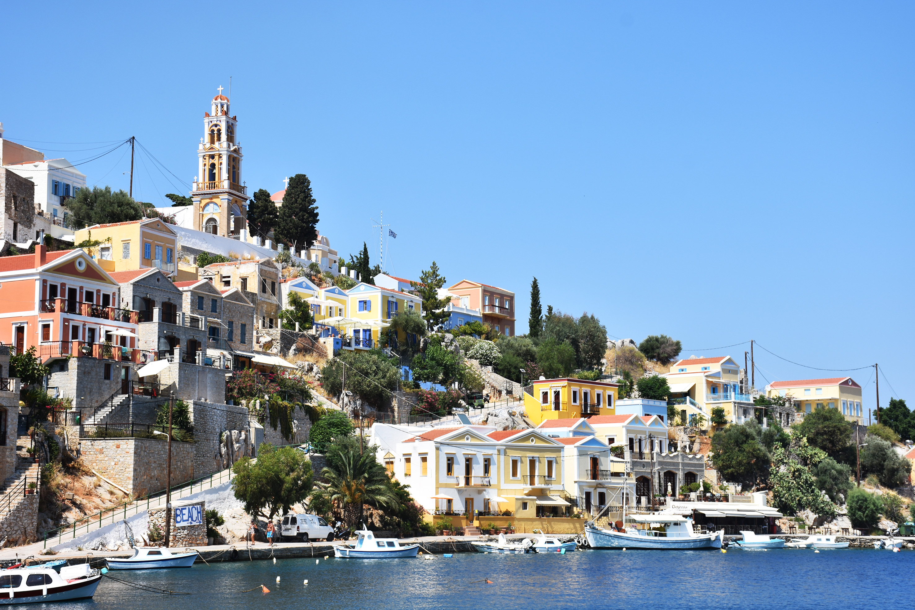 the traditional port of Simi Greece