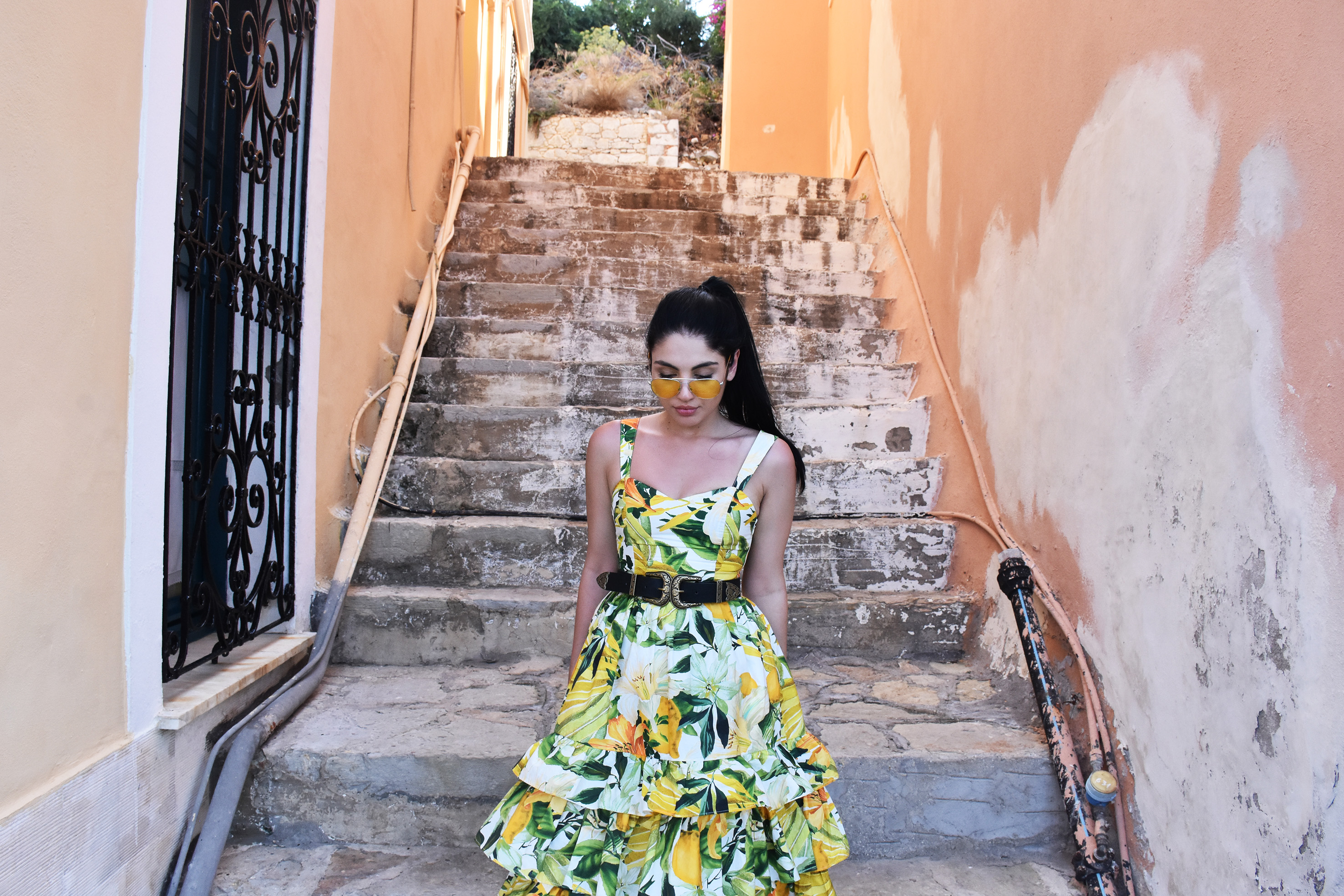 A blogger's luxurious outfit in Simi's beautiful & traditional streets