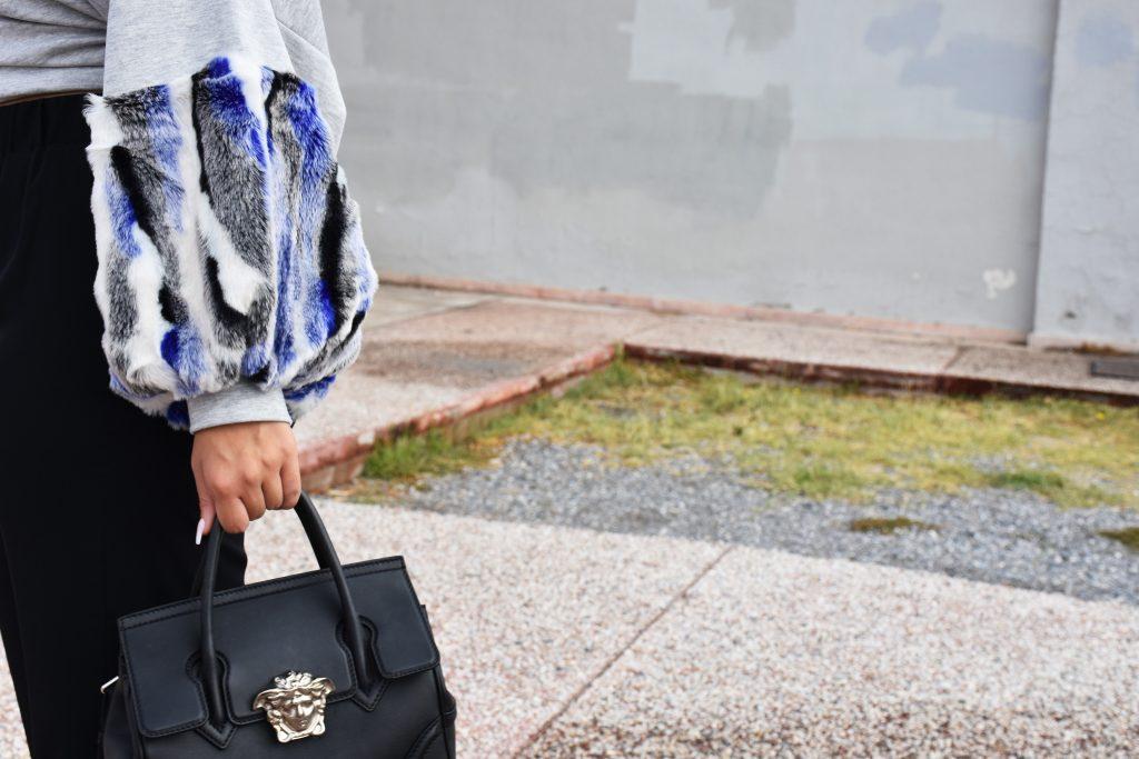 black versace palazzo bag