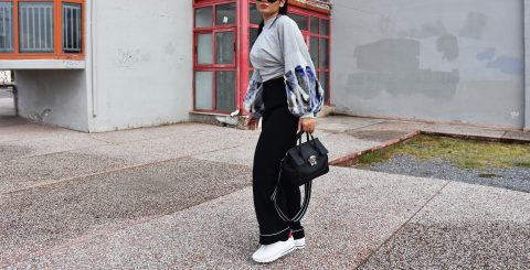 how to style your white sneakers