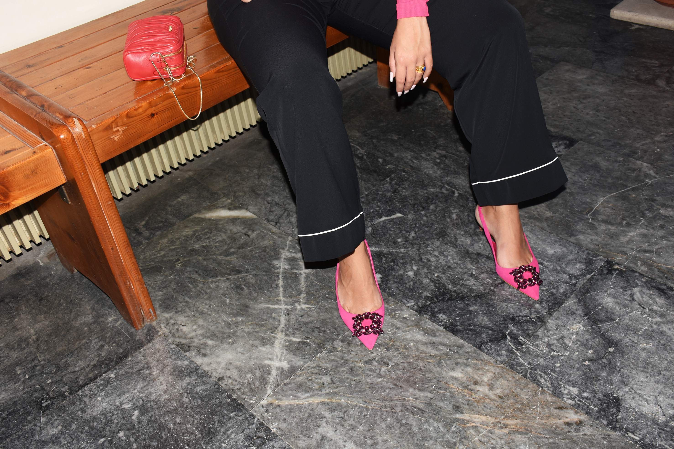 heels all day - kitten heels , pink kitten heels