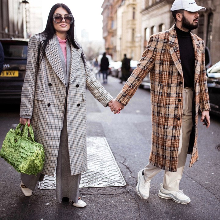 LFW CHECK COATS STREETSTYLE BY ROMILUX