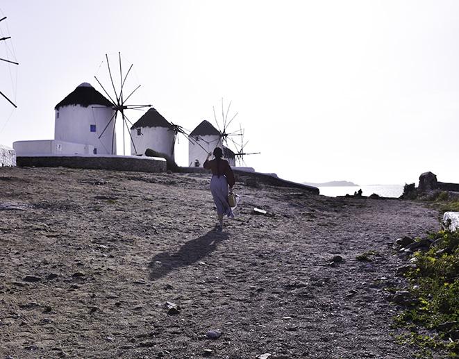 mykonos greece windmills