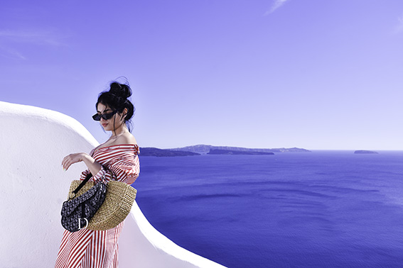 SANTORINI WHAT TO WEAR | THE  DAY TO NIGHT OUTFIT I WORE FOR MY 24 HOURS IN SANTORIN