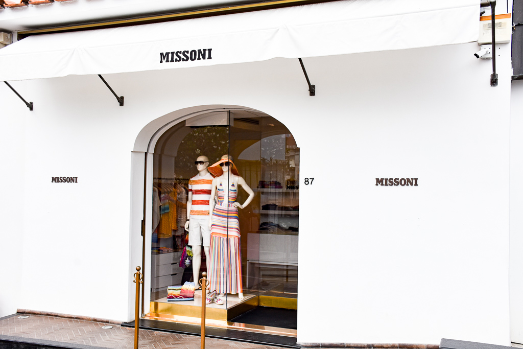missoni boutique in positano