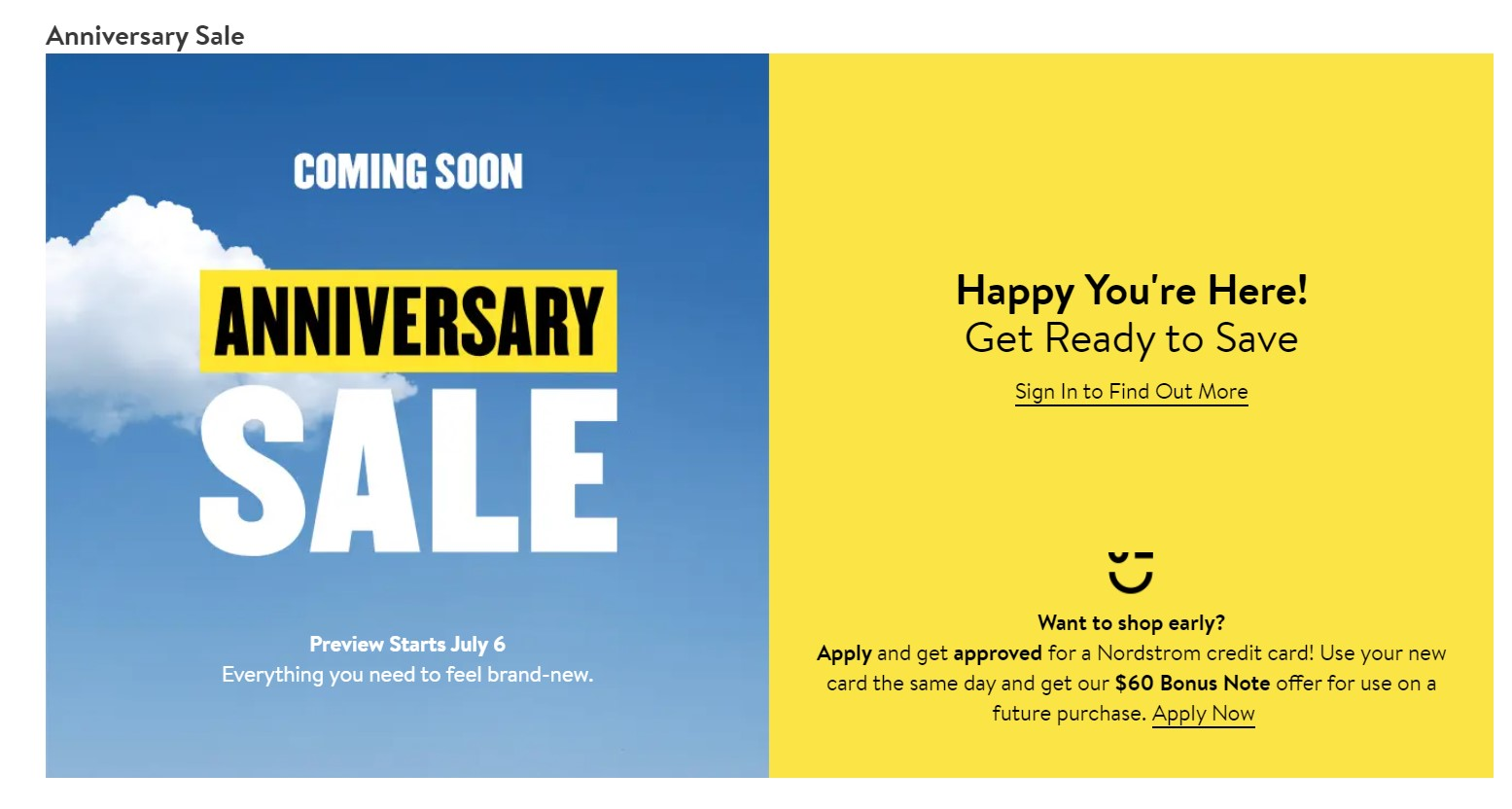 nordstrom anniversary sale dates